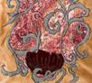 embroidery, radzio, katarzyna, katarzyna radzio, secesja, haft, haft artystyczny, haft komputerowy, haft maszynowy, prezent, gift, ślub, wedding,dekoracja, decoration, ornament, fantazyjne, jednostkowe, unikalne, unic, indywidualne, indyvidual, wyjątkowe, autorskie, secesja, secession, art, artistic, poduszka, cussion, łóżko, bed, art deco,  mak, papaver,