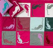 embroidery, radzio, katarzyna, katarzyna radzio, secesja, haft, haft artystyczny, haft komputerowy, haft maszynowy, prezent, gift, ślub, wedding,dekoracja, decoration, ornament, fantazyjne, jednostkowe, unikalne, unic, indywidualne, indyvidual, wyjątkowe, autorskie,  art, artistic, kapa, cover, łóżko, bed, cat, kot, patchwork