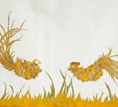 embroidery, radzio, katarzyna, katarzyna radzio, secesja, haft, haft artystyczny, haft komputerowy, haft maszynowy, prezent, gift,dekoracja, decoration, ornament, fantazyjne, jednostkowe, unikalne, unic, indywidualne, indyvidual, wyjątkowe, autorskie, art, artistic, obraz, picture,  ptak, bird, kogut, cock, orient, china, latać, fly,wielkanoc, easter