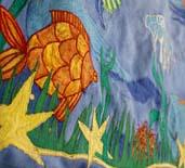 embroidery, radzio, katarzyna, katarzyna radzio, secesja, haft, haft artystyczny, haft komputerowy, haft maszynowy, prezent, gift,dekoracja, decoration, ornament, fantazyjne, jednostkowe, unikalne, unic, indywidualne, indyvidual, wyjątkowe, autorskie, art, artistic, obraz, picture,  MORZE, SEA, RYBA, FISH,