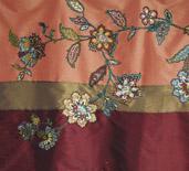 embroidery, radzio, katarzyna, katarzyna radzio, secesja, haft, haft artystyczny, haft komputerowy, haft maszynowy, prezent, gift,dekoracja, decoration, ornament, fantazyjne, jednostkowe, unikalne, unic, indywidualne, indyvidual, wyjątkowe, autorskie, art, artistic, obraz, picture, kwiat, flower, listki, leaves, orient